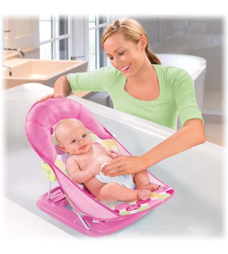 summer infant deluxe baby bather bath in circle daisy. Black Bedroom Furniture Sets. Home Design Ideas