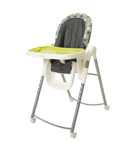 Safety 1st adjustable high chair in aqueous chaise haute for Chaise haute safety 1st baby relax