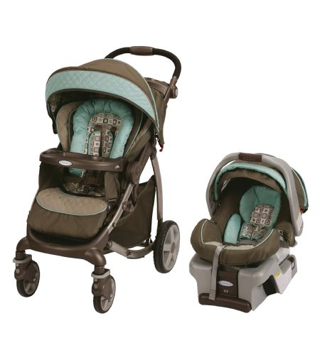 Graco Stylus Travel System With SnugRide Classic Connect 30 Infant Car Seat In Soho Square