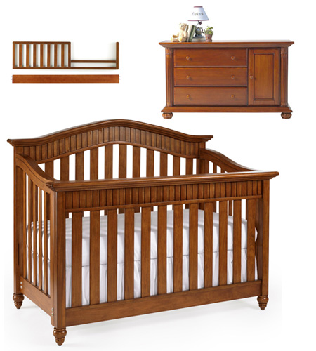 Lajobi Eastside Convertible Crib And Combo Bundle In Cinnamon Nursery Bundles Canada S Baby